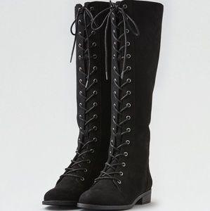AEO black riding boots